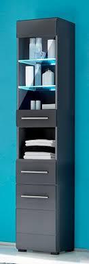 bega badezimmer hochschrank chrome seitenschrank mit 2 türen grau metallic