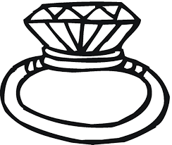 Art wedding rings ring clipart black and white clip