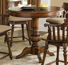 Extraordinary Round Wood Pub Table And Chairs Dining Set ...