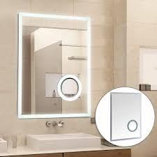 kleankin led badspiegel badezimmerspiegel beleuchtung 65w