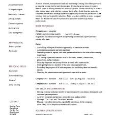 Catering Job Description For Resume Sample Chef Back To