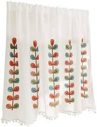 de kitchen curtains scheibengardine weib kurzgardine