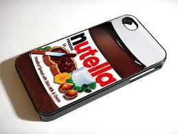 Nutella iPhone 4 4S Case iPhone 5 Case Hard Case Cover Black White
