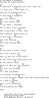 Emmylou Harris song If You Were A Bluebird lyrics and chords
