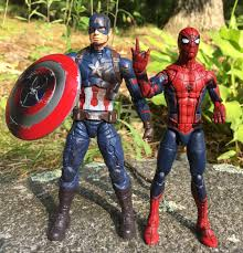 Size Comparison Hasbro Marvel Legends Civil War Captain America Spider Man Figures