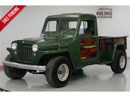 100 Jeep Willys Truck 1949 For Sale ClassicCarscom CC1185381