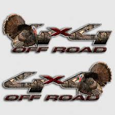 100 Ford Stickers For Trucks Camouflage 4x4 F250 Truck Decal Archery Hunting Deer Super