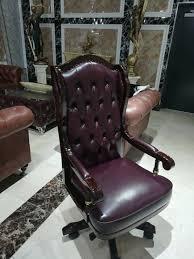 chefsessel sessel klassischer stuhl büro drehstuhl leder ceo leder holz sofort