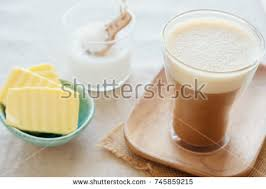 Bulletproof Coffee Blended Organic Grass Fed Stock Photo Royalty Free 745859215