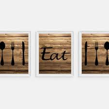 Wood Fork And Spoon Wall Hanging by Shop Spoon And Fork Kitchen Decorations On Wanelo