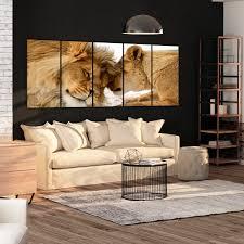 deko leinwand bilder löwe tier katze weiß afrika natur