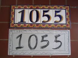 Mexican Tile House Numbers With Frame by Mission Style House Number Tiles On Your Spanish Revival Home How To
