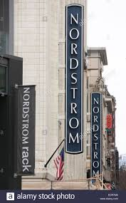 A Nordstrom and Nordstrom Rack clothing retail store in downtown