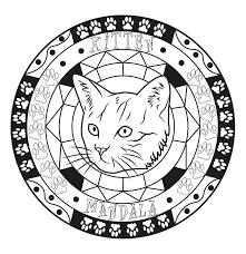 Mandala Cat By Allan