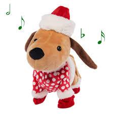 Amazoncom Simply Genius Funny Animated Christmas Plush Dog