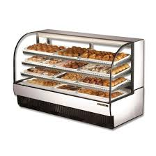 True TCGD 77 Curved Glass Non Refrigerated Bakery Case Dry