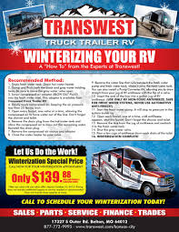 100 Transwest Truck And Trailer HowTo Winterize From The Experts At