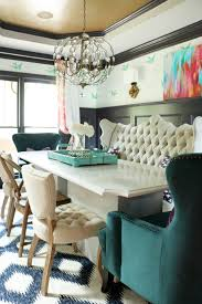 Captains Chairs Dining Room by Whimsical Elegant Dining Room Tufted Bench Wishbone Chair And