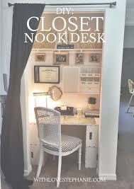 turn your closet into a desk workspace in 3 easy steps crafts