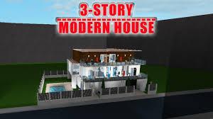 100 Modern House 3 ROBLOX Bloxburg Story 14k Speed Build