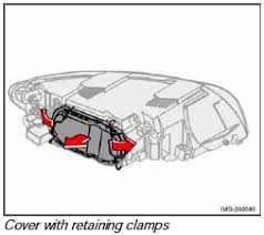 how to replace headlight and bulbs volvo s40 v50 c30 c70
