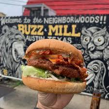 100 Burger Food Truck Plow Buzz Mill Austin Texas Restaurant HappyCow