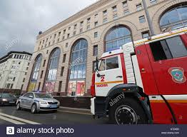 100 The Car And Truck Store Moscow Russia 14th Sep 2017 A Police Car And A Fire Truck Seen