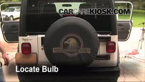 third brake light bulb change jeep wrangler 1997 2006 2006