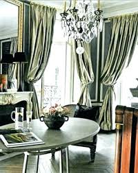 Silver Dining Room Curtains Grey Decorating Styles Traditional