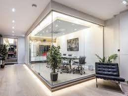 100 Glass Walled Houses Single Glazed Frameless Office Partitioning In 2019
