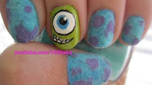 Sulley Monsters Inc Pumpkin Stencils by Monsters Inc Velvet Nails Youtube