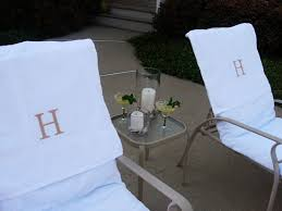 Terry Cloth Lounge Chair Cushion Covers by How To Make Towel Slipcovers For Outdoor Chairs In My Own Style
