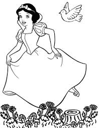 Unusual Disney Cartoon Coloring Pages Amazing Snow White For Kids