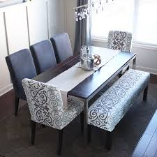 Dining Room Table With Upholstered Bench DIY Splicover