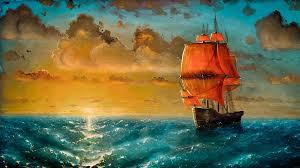 Beautiful HD Ship Art Painting