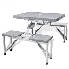 Foldable Camping Table Set With 4 Stools Aluminum Extra ... Fold Up Camping Table And Seats Lennov 4ft 12m Folding Rectangular Outdoor Pnic Super Tough With 4 Chairs 120 X 60 70 Cm Blue Metal Stock Photo Edit Camping Table Light Togotbietthuhiduongco Great Camp Chair Foldable Kitchen Portable Grilling Stand Bbq Fniture Op3688 Livzing Multipurpose Adjustable Height High Booster Hot Item Alinum Collapsible Roll Up For Beach Hiking Travel And Fishing Amazoncom Portable Folding Camping Pnic Table Party Outdoor Garden