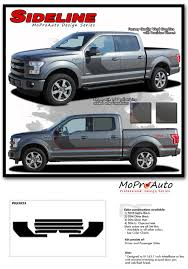 F150 Bed Dimensions by 2015 2018 Ford Truck F 150 Sideline Stripes Vinyl Graphics 3m