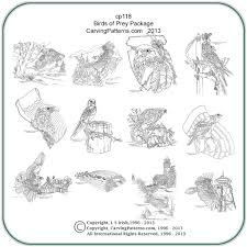 birds of prey patterns u2013 classic carving patterns