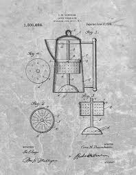 Antique Coffee Percolator Patent Drawing By Dan Sproul
