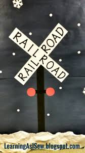 Polar Express Door Decorating Ideas by Learning As I Sew Bake Cut And Create Polar Express Themed Decor