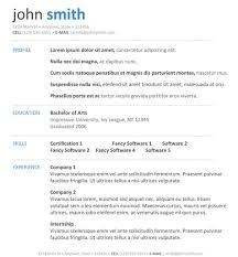 Great Resume Templates Resume Templates Free Resume Formats