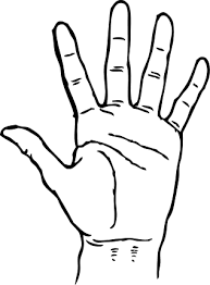 Pin Hand Clipart Coloring Page 4