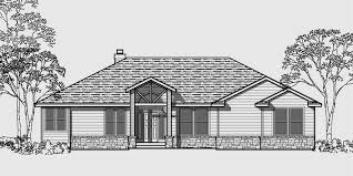 3 Bedroom Ranch Floor Plans Colors One Story House Plans Daylight Basement House Plans Side Garage