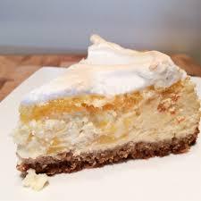 zitronen mango cheese cake mit baiser glutenfrei