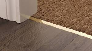 Carpet To Tile Transition Strips Uk by Square Door Threshold Youtube