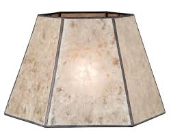 Mica Lamp Shade Company by Parchment Color Hexagon Style Mica Lampshade Antique Lamp Supply