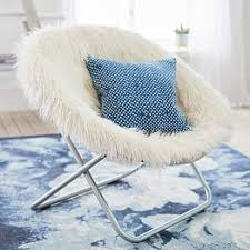 Ivory Furlicious Faux Fur Hang A Round Chair