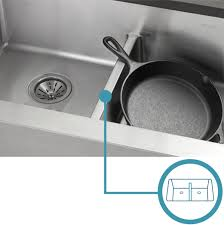 Double Kitchen Sinks With Drainboards by Elkay Crosstown Efu471810db 60 40 Double Bowl Undermount Stainless