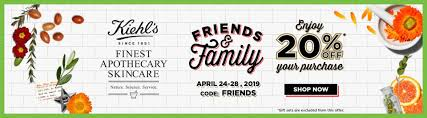 KIEHL'S SINCE 1851 CANADA PROMO CODE: Family & Friends; Save ...