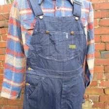 W32 Vintage 90s Sears Mens Bib Brace Overalls Dungarees USA Workwear L893